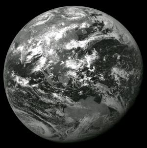 ひまわり5号が最後に撮影した地球の画像